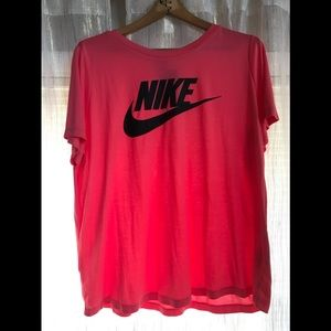 New hot pink nike shirt 2x with tag